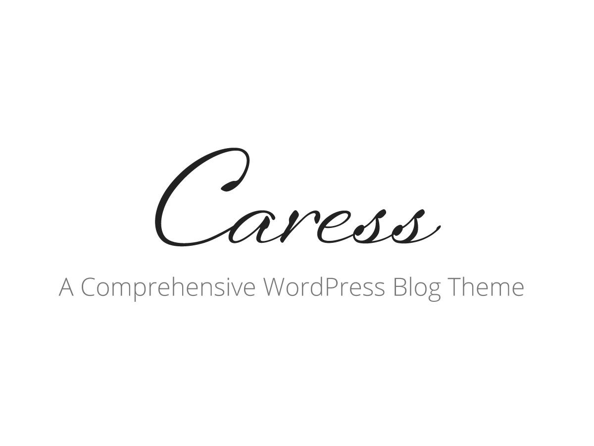 Caress WordPress blog template