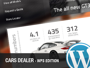 Cars Dealer premium WordPress theme