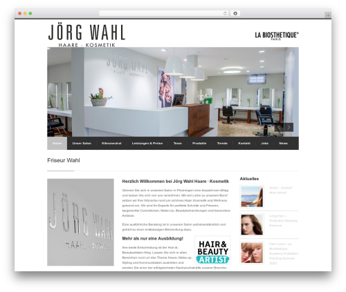 Centum WP top WordPress theme - wahl-hairdesign.de