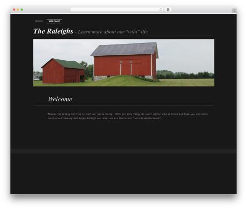 Chateau WordPress theme design - wildraleigh.com