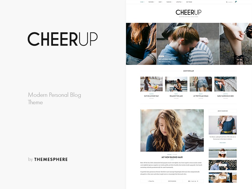 CheerUp WordPress blog theme