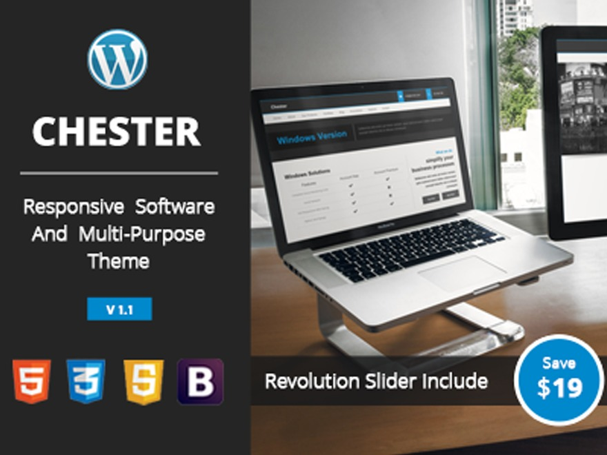 Chester business WordPress theme
