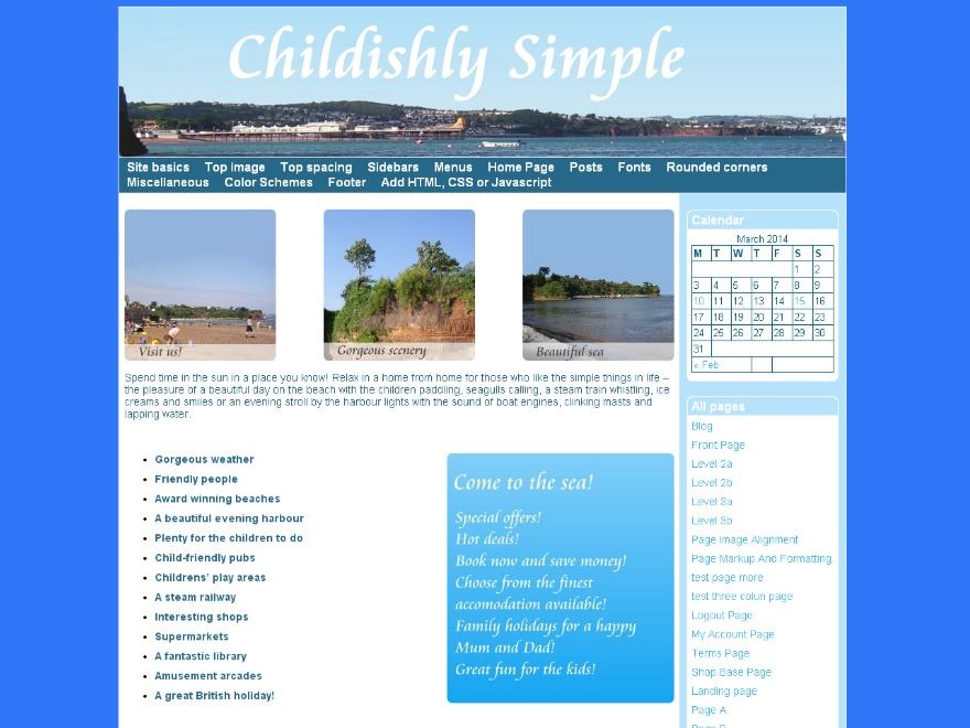 Childishly Simple WordPress template for photographers