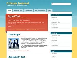 Citizen Journal WordPress page template