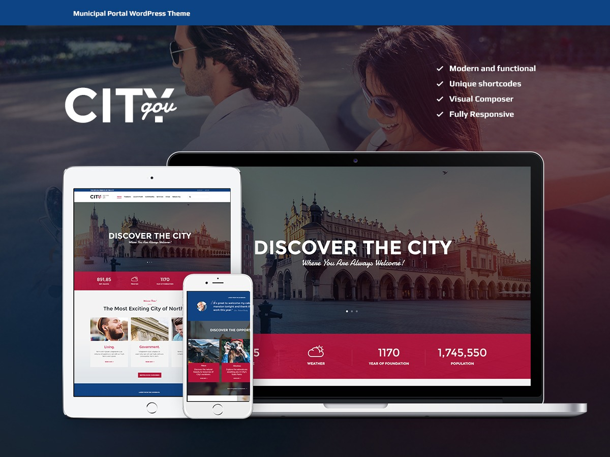 CityGov WordPress template