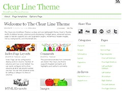 Clear Line WordPress theme image