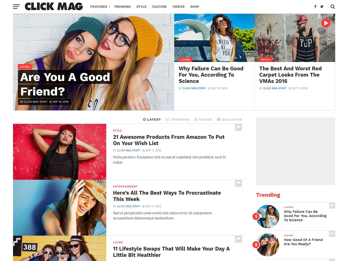 Click Mag WordPress magazine theme