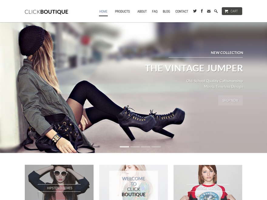 ClickBoutique WordPress store theme