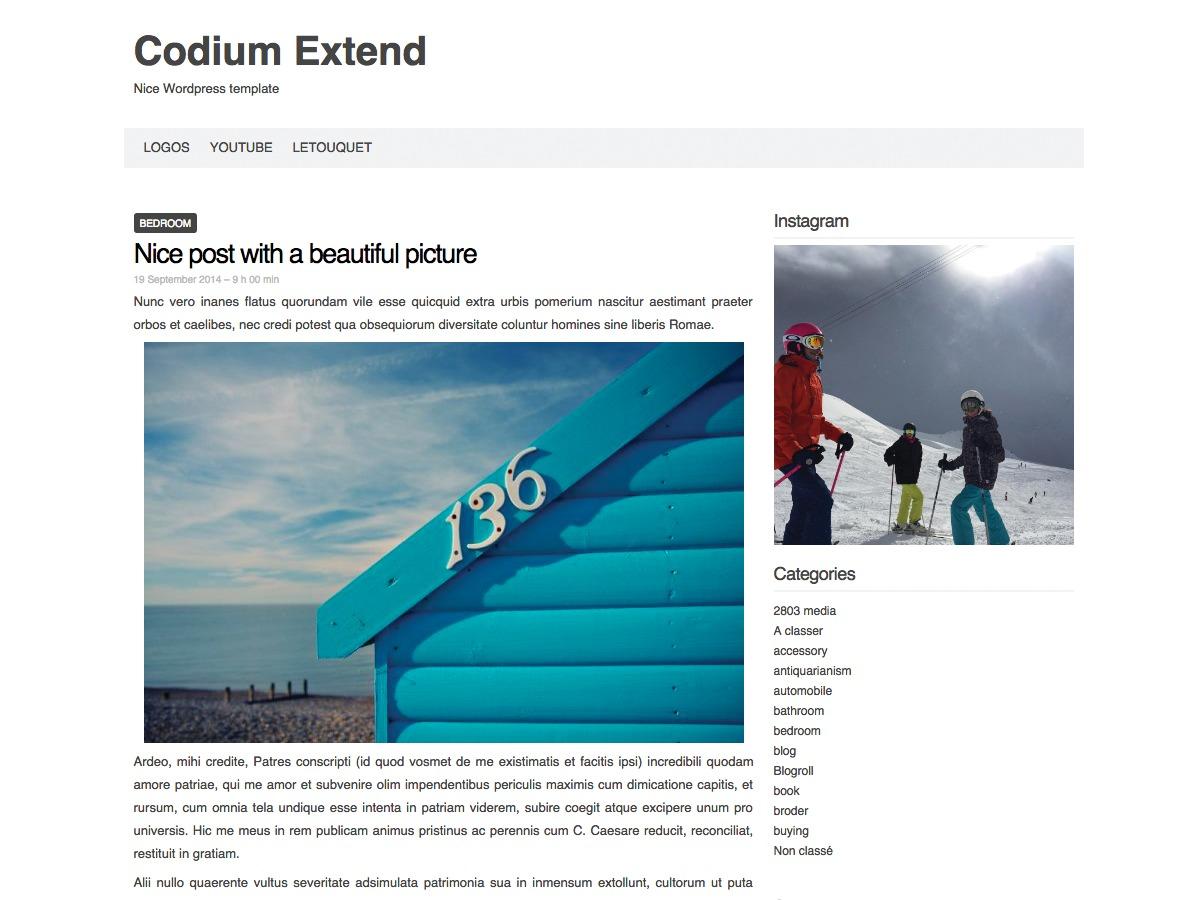 Codium Extend WordPress template free