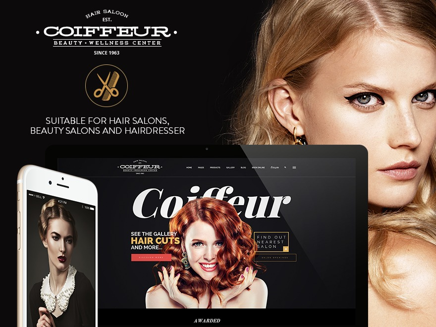 Coiffeur WordPress template for business