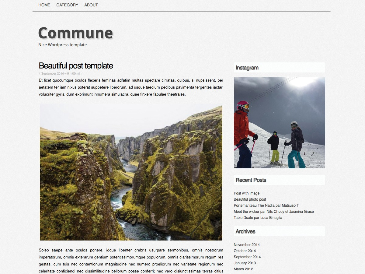 Commune WordPress theme free download