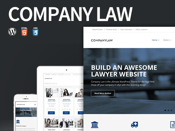 CompanyLaw WordPress template for business
