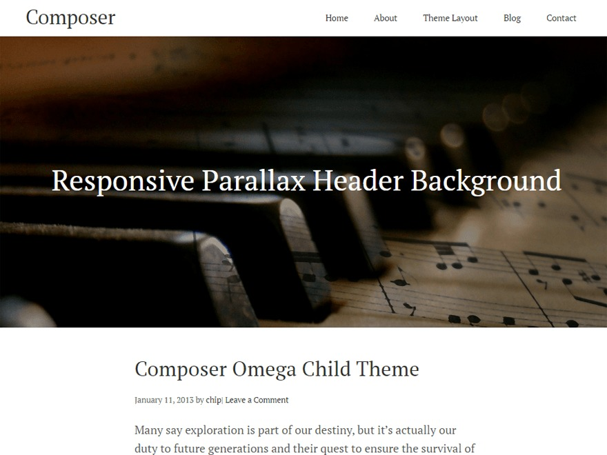 Composer WordPress theme free download