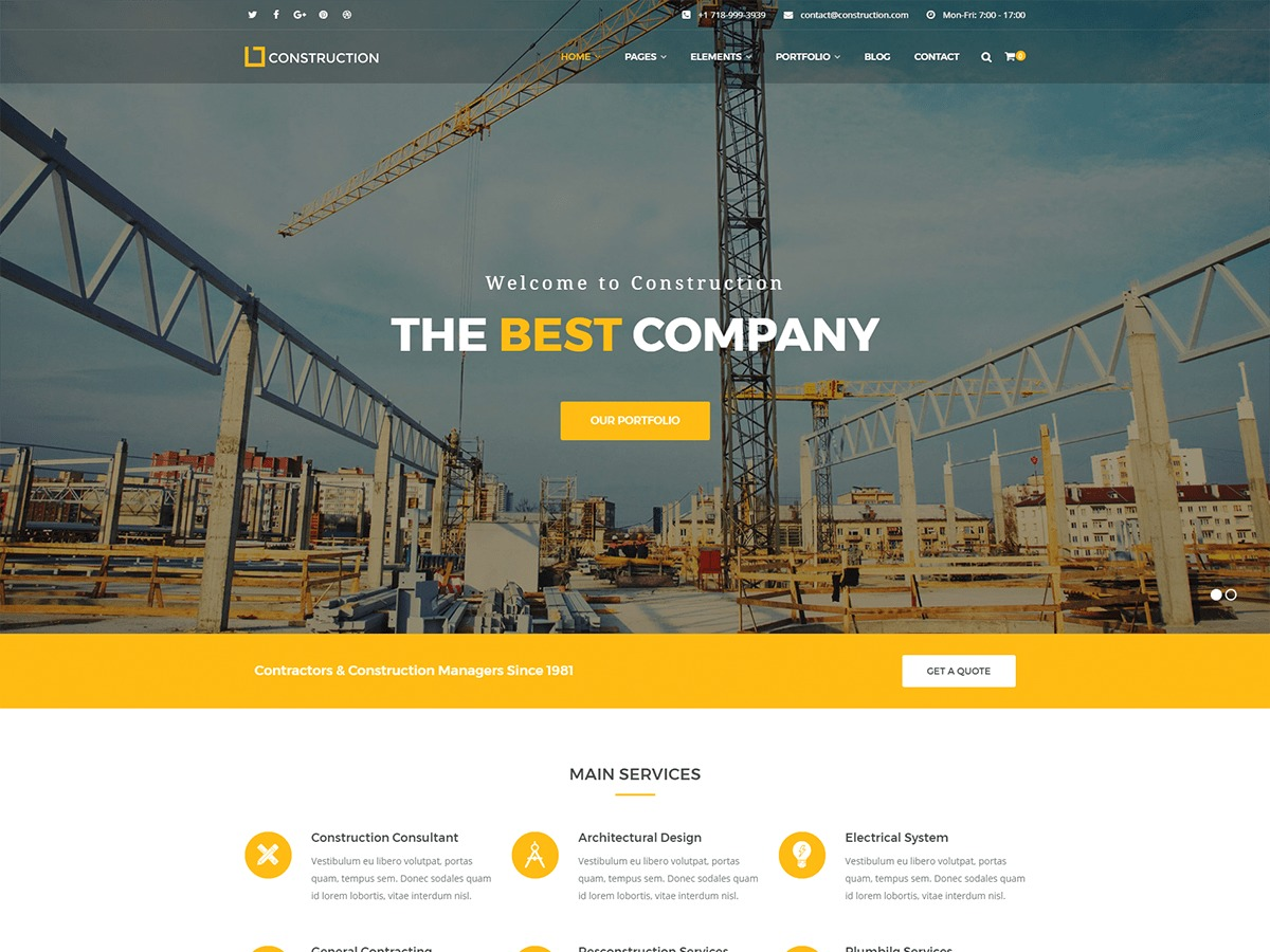 Construct theme WordPress