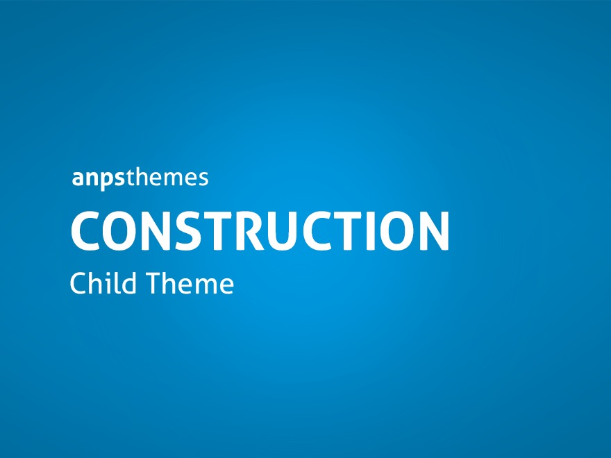 Construction Child Theme WordPress theme design
