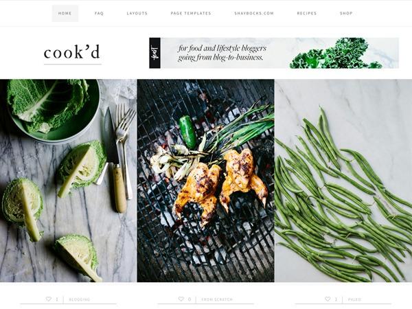 Cookd Pro Theme WordPress website template