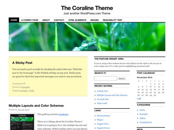 Coraline WordPress gallery theme