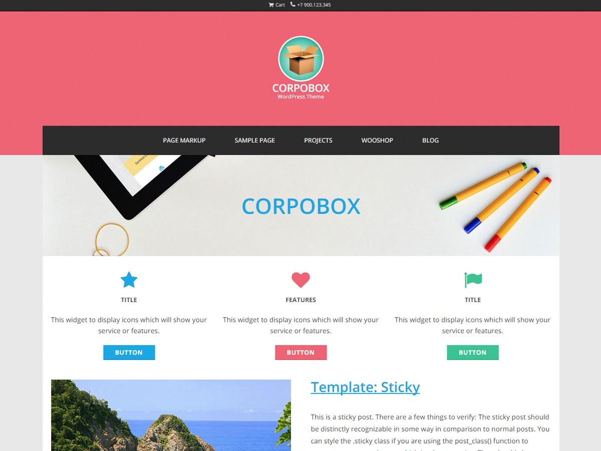 Corpobox Lite template WordPress free