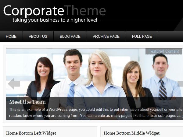 Corporate WordPress Theme WordPress website template