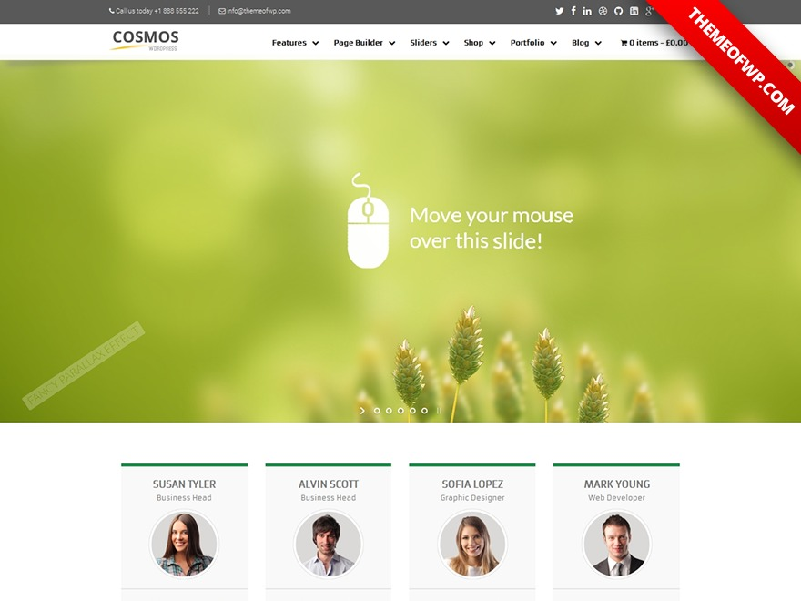 Cosmos WordPress theme