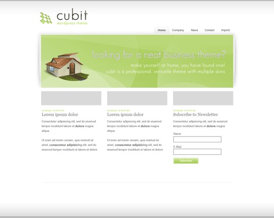 Cubit business WordPress theme