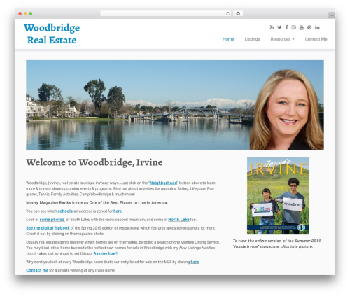 Customizr best free WordPress theme - woodbridgeirvine.com