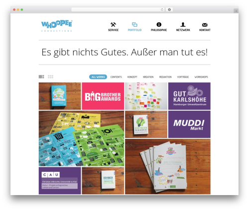 Daisho WordPress website template - whoopee-connections.de