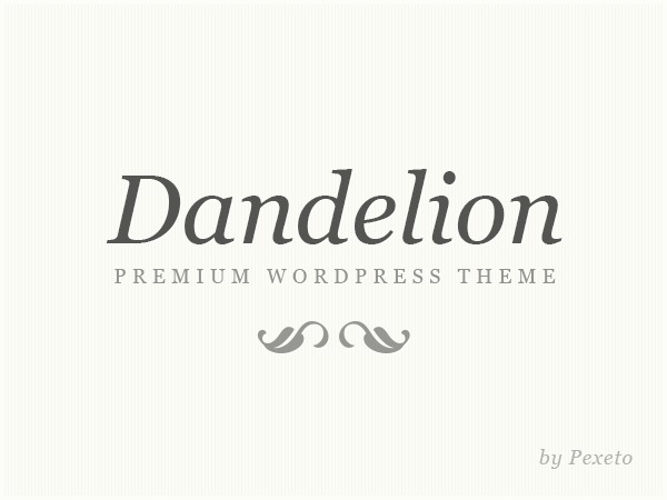 Dandelion WordPress template