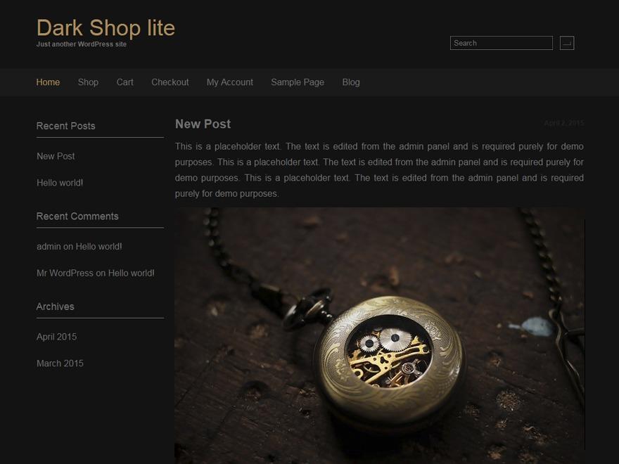 Dark Shop lite free WordPress theme