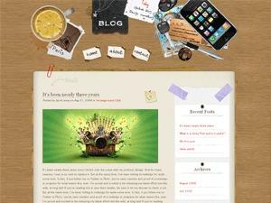 Desk Mess WordPress blog template