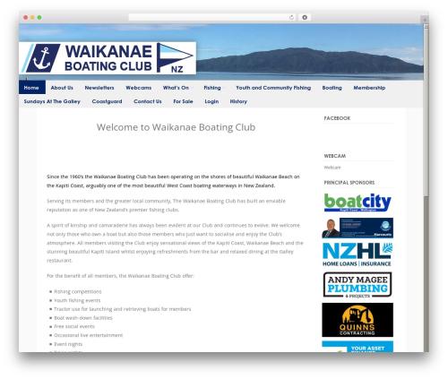 Discovery free WP theme - waikanaeboatingclub.org.nz