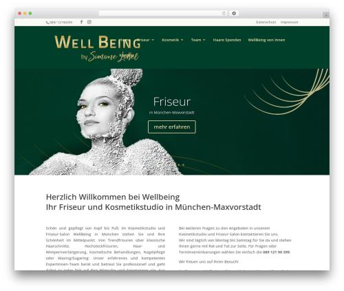 Divi theme WordPress - wellbeing-muenchen.de