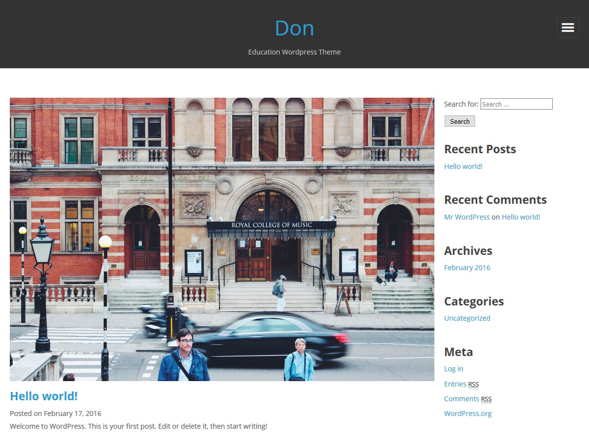 Don template WordPress free