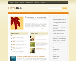 EarthlyTouch WP template