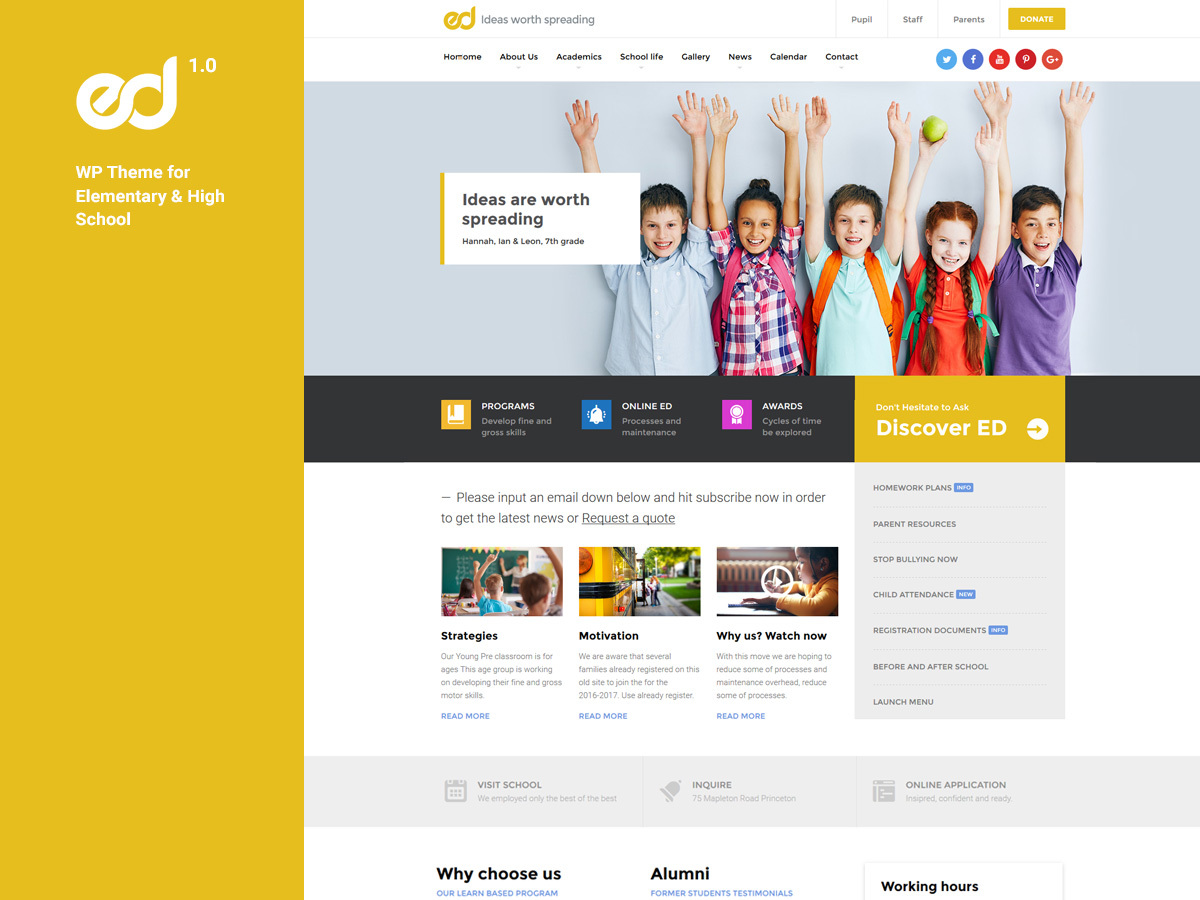 Ed School theme WordPress