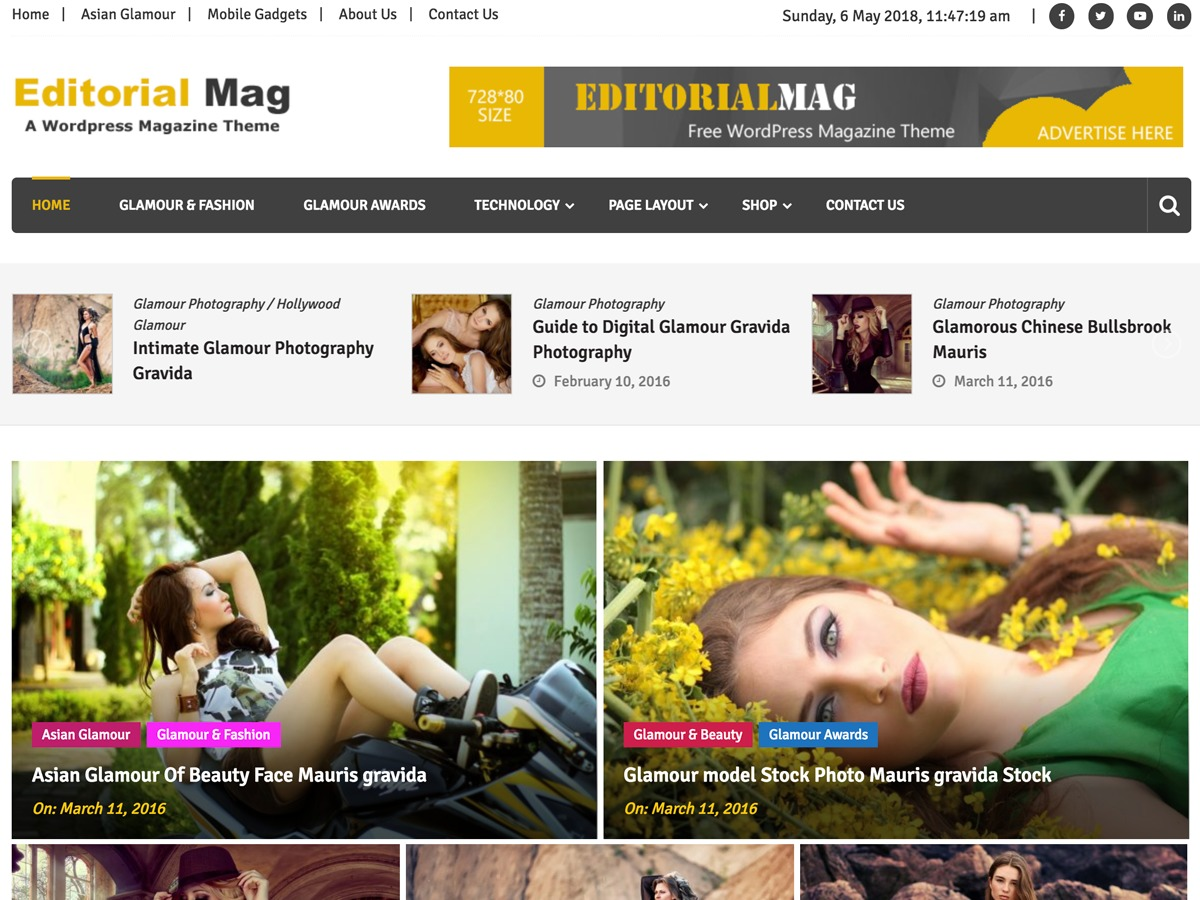 Editorialmag template WordPress free