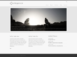Elegance WordPress theme design