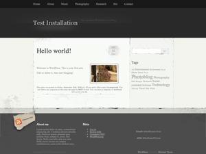 Elegant Grunge WordPress blog template