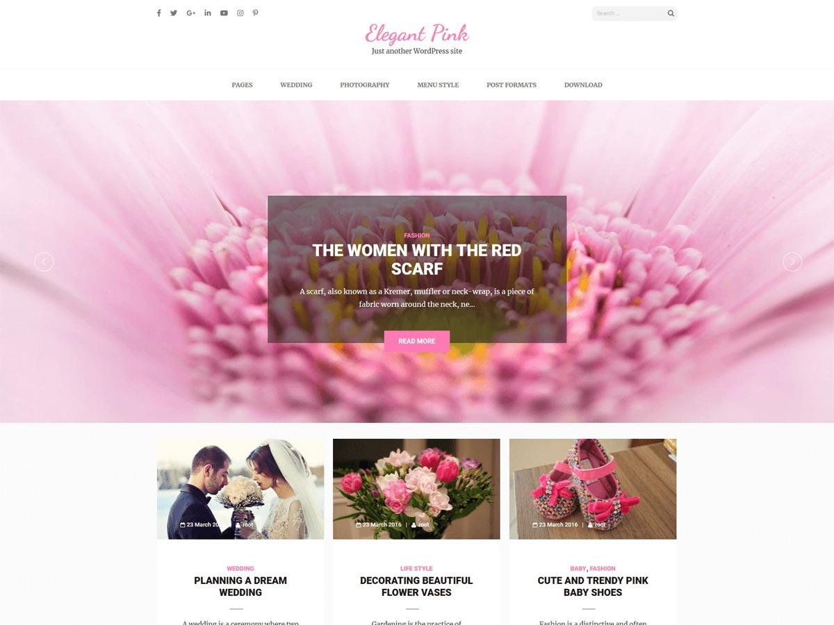 Elegant Pink free WP theme