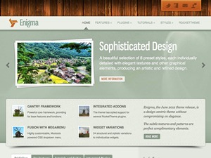 Enigma WordPress page template