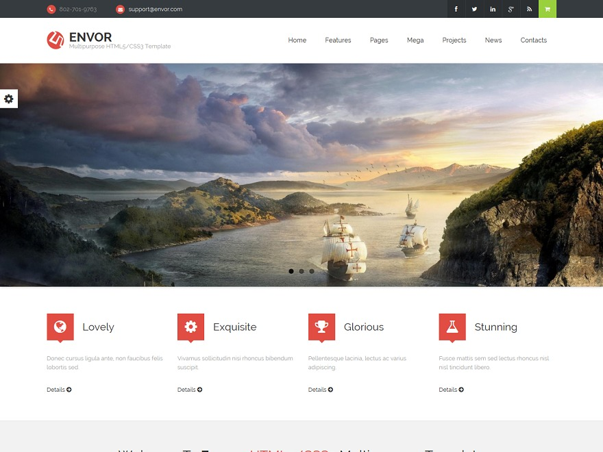 Envor WordPress store theme