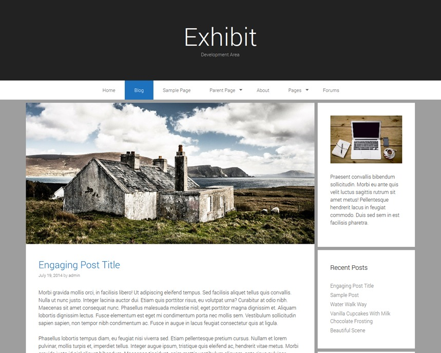 Exhibit WordPress free download