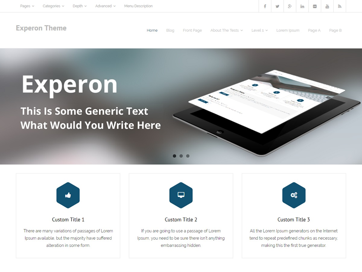 Experon WordPress template for business