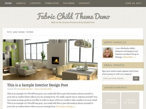 Fabric Child Theme WordPress template
