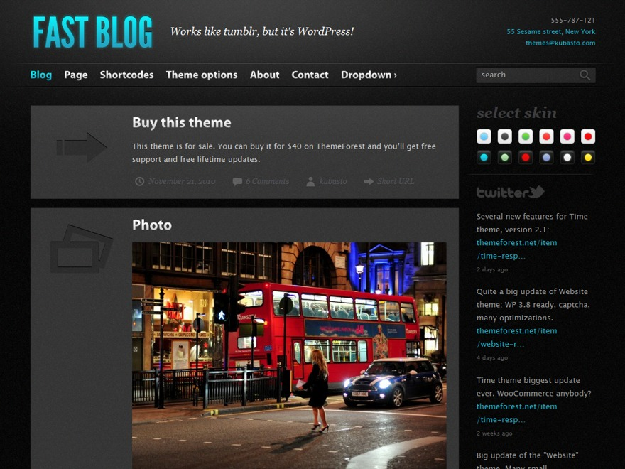 Fast Blog WordPress blog template