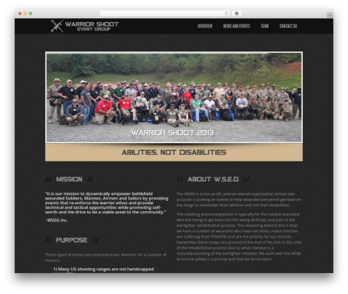 Feather premium WordPress theme - warriorshoot.com