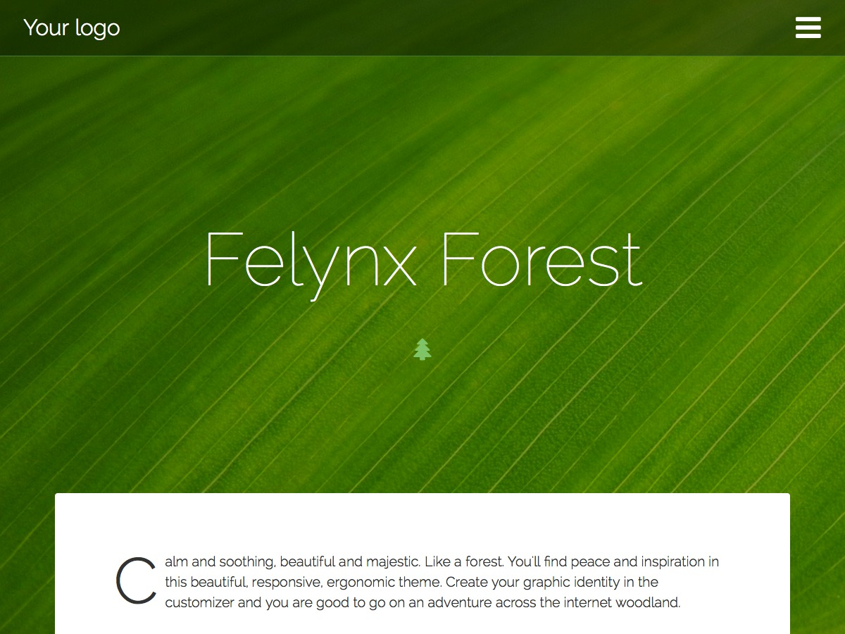 Felynx Forest WordPress template free download