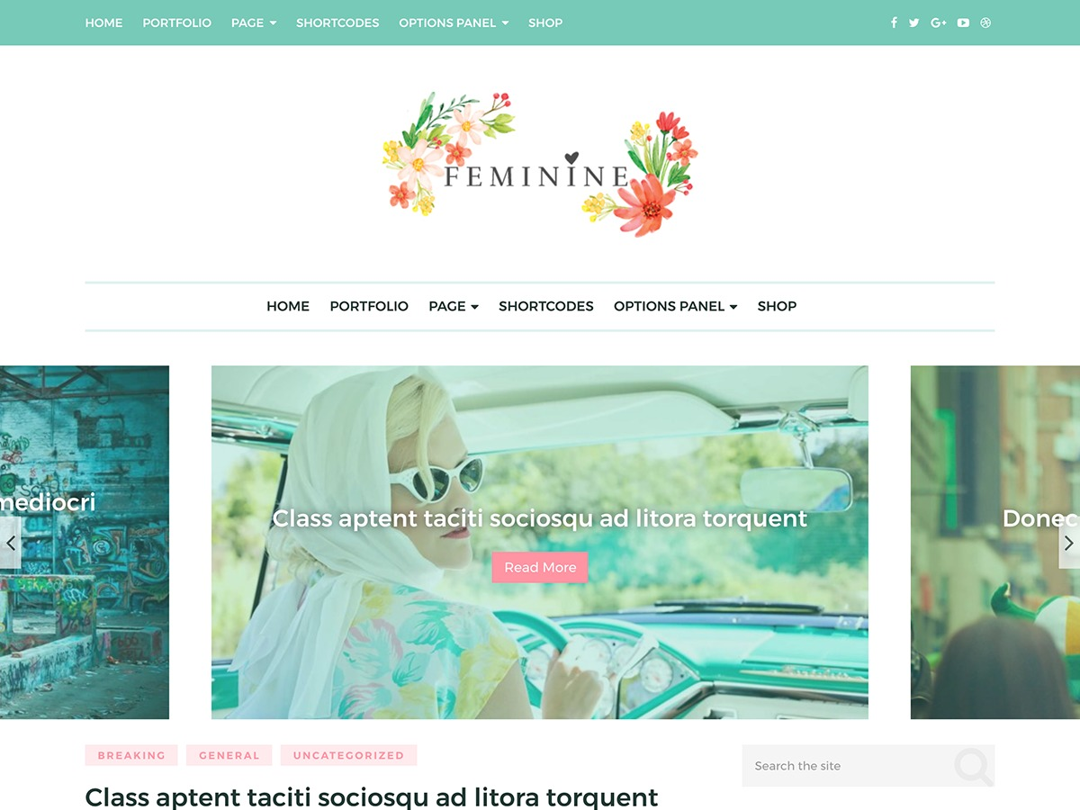 Feminine by MyThemeShop WordPress store theme