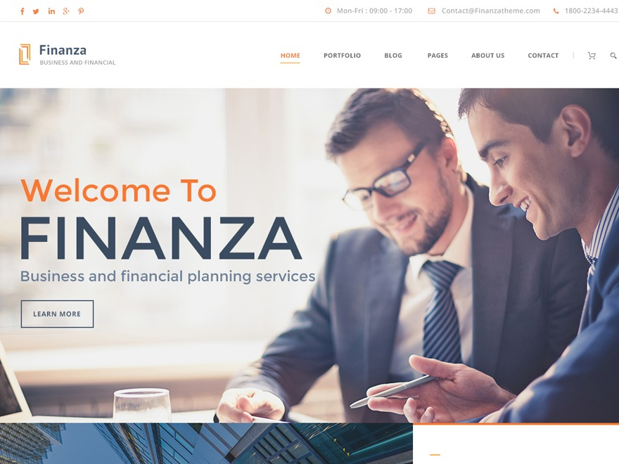 Finanza WordPress website template
