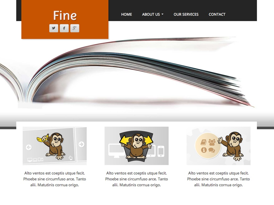 Fine template WordPress free